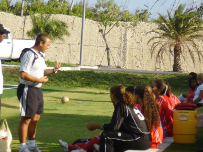 Speaking to the Cayman Islands National Women's Football Team