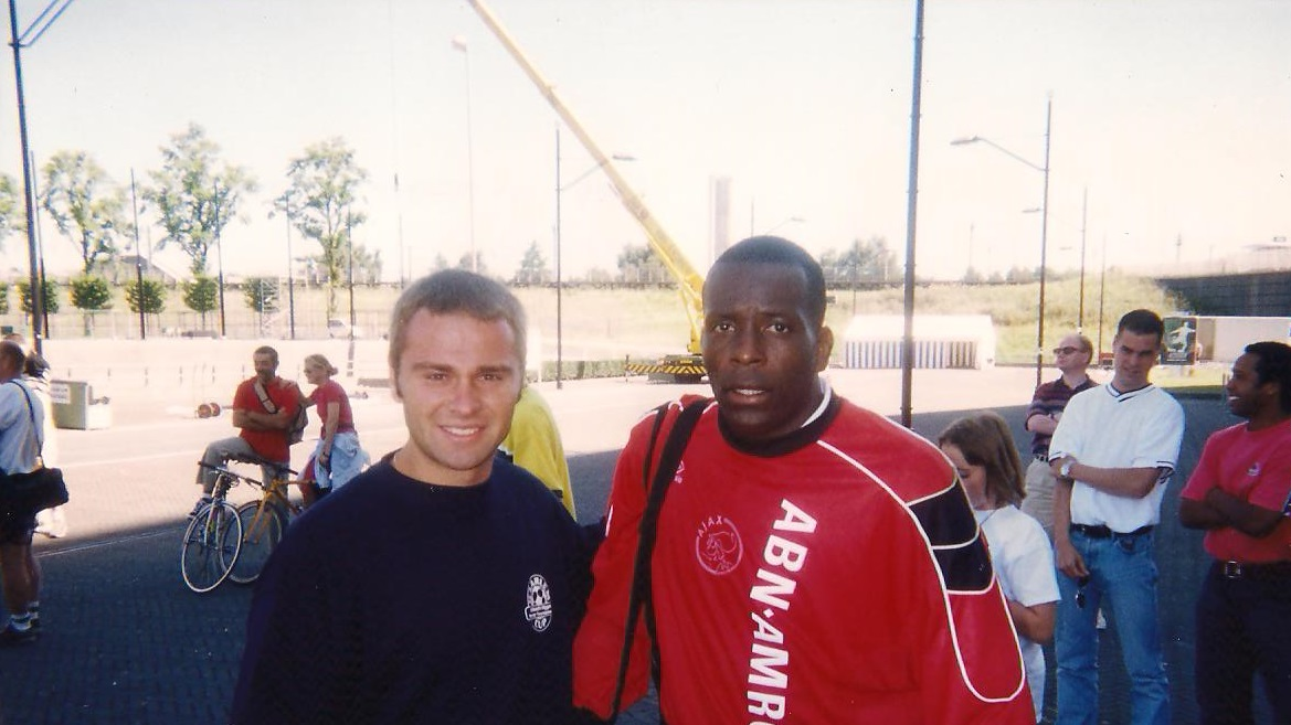 With Stanley Menzo during Ajax Club Visit